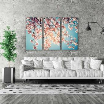 Harga Easy Art Triptych 3-piece Vintage Sakura Premium Canvas Art