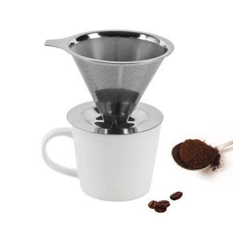 Modern Fashionable Stainless Steel Metal Coffee Dripper Pour Over Coffee Maker Reusable Coffee Filter Single Cup Coffee maker Price Philippines