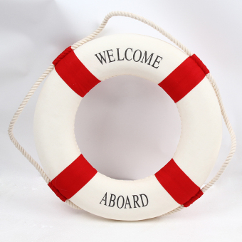 Hanyu Welcome Aboard Cloth Navy Nautical Decor New – Decoration 25cm Buoy Mediterranean Style Artware Red - Intl Price Philippines