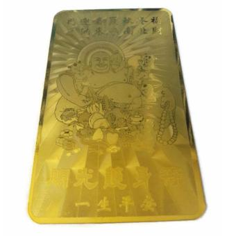 Be Lucky Charms Feng Shui Golden Card Laughing Buddha Good Luck Charm Price Philippines