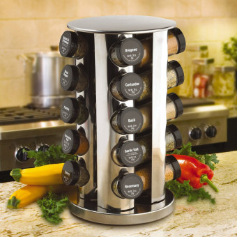 Revolving Spice Tower Spice Rack Rotating Stainlesssteel Stand Holder - intl Price Philippines