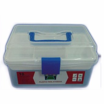 Harga 10 Inch Prostar Clear Multi Purpose Plastic Tool Box