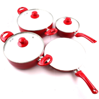 Harga Ceramic Non-stick Skillet Cookware Set 7 Piece