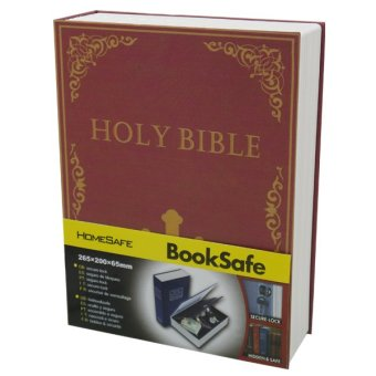 Harga Holy Bible Safety Box with Key Lock Book Safe (Maroon)