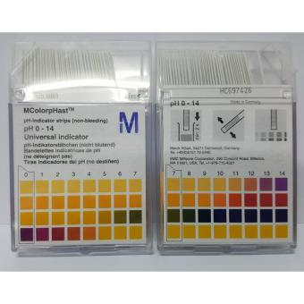 Harga Merck MColorpHast Non Bleeding pH indicator test strips (pH 0-14, 100pcs)