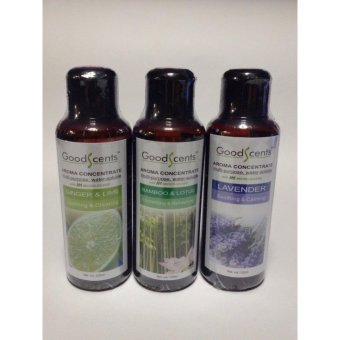 Harga Good Scents Aroma Fragrance 3 Best Sellers Lavender and Bamboo Lotus and Gingerlime 125ml