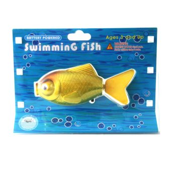 Harga Battery Powered Swimming Yellow Gold Fish Water Toy