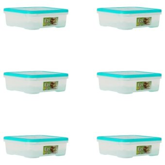 Harga Sunnyware 721 Extra Small Food Keeper Set of 6 (Blue Green)
