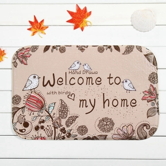 Indoor Non Slip Floor Mat Rugs 40*60cm (Welcome come to my home) - intl Price Philippines