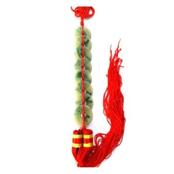 Be Lucky Charms Feng Shui Jade Infinite Wealth 8 Coin with Mystic Knot Ornament Price Philippines