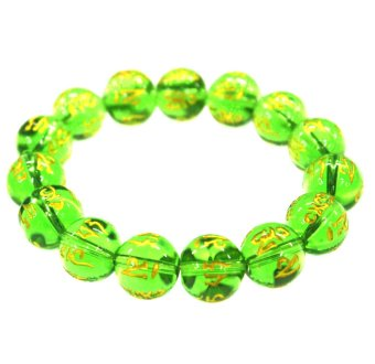 Harga Feng Shui Charms Monta Beads Bracelet Small (Light Green)