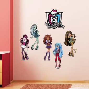 Harga Rorychen Monster High Children 's Room Cartoon Background Wall Decoration Stickers Wall Stickers - intl