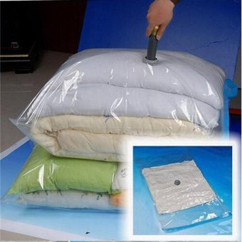 2017 Hot Vacuum Bag Storage Bag Transparent Border Foldable Extra Large Compressed Organizer Saving Space Seal Bags(80cmx120cm) - intl Price Philippines