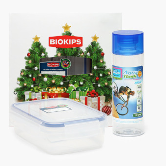 Harga Biokips Food Container 670mL and Aqua Flask 320mL Set