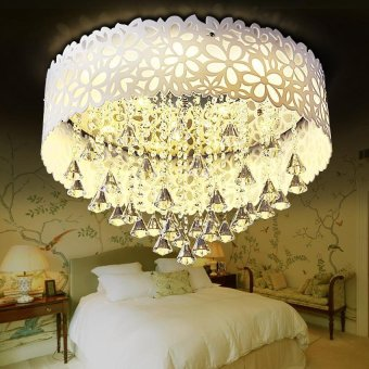 Harga Crystal LED ceiling lamp living room bedroom lamps - intl