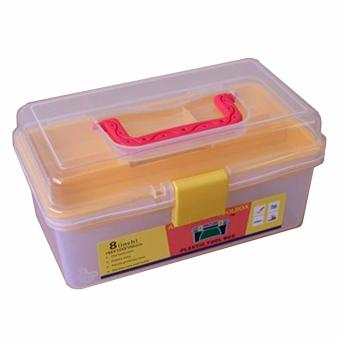 Harga 8 Inch Prostar Clear Multi Purpose Plastic Tool Box