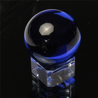 Freebang New Asian Rare Natural Quartz Clear Magic Crystal Healing Ball Sphere 40mm+Stand Blue Price Philippines