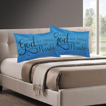 Set of 2 Perfect Cotton Bedding Pillow Case Bible Verse Matthew 19:29 Price Philippines
