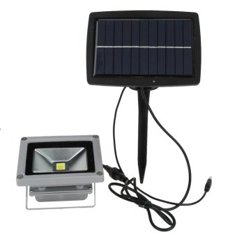 Harga 10W Waterproof Solar Powered LED Flood Spot Light (White) - intl