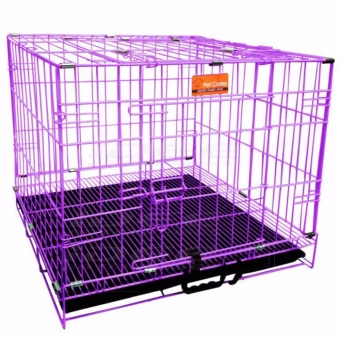 Pet Crates EL-1.5 Foldable Dog Cage w/ Plastic tray (Purple) Price Philippines