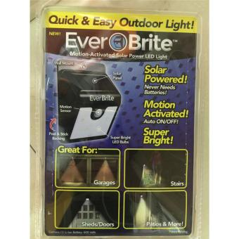 Harga YingWei Ever Brite Motion- Activated Outdoor 4pcs LED Solar Outdoor Stick Up Light