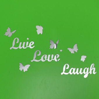 Harga DIY Butterfly Live Love Laugh Mirror Acrylic Wall Sticker Home Decal Art Decor