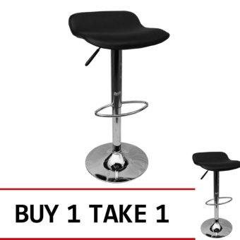 Harga Sumo BC-47BLK Designer Adjustable Height Bar Stool Furniture (Black) Buy 1 Take 1
