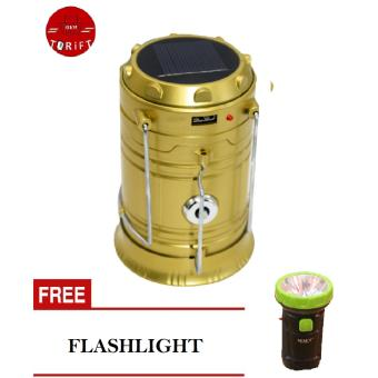 SHOP AND THRIFT Rechargeable 5800 Solar Camping Lantern Emergency LED Light with FREE Flashlight Price Philippines