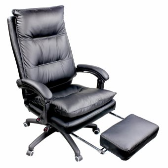 Harga New Unicorn Ergonomic Chair Lounge Reclining Office Chair (Black)