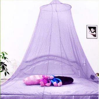 Harga Romantic House Hang Dome Mosquito Net (Violet)