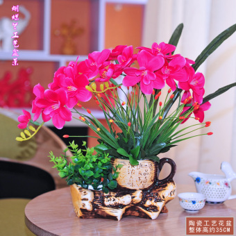 Indoor potted living room plastic flowers Butterfly Orchid