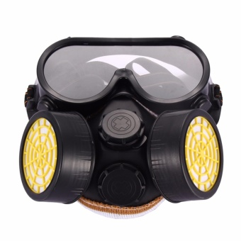 Industrial Gas Chemical Anti-Dust Paint Respirator Mask GlassesGoggles Set - intl Price Philippines