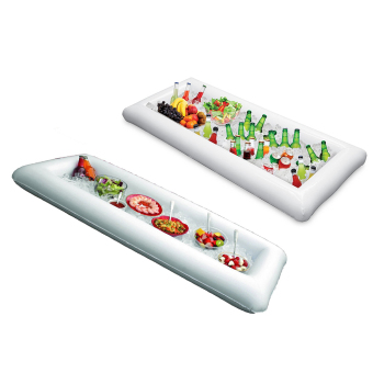 Inflatable Serving Tray Food Drink Holder Picnic Buffet Salad TrayBar Beer Ice Buckets - White - Intl