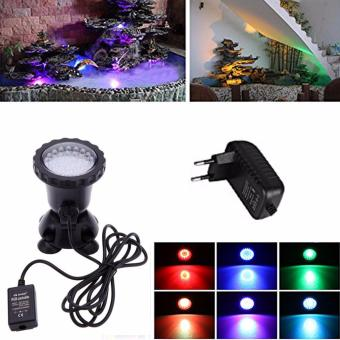 Inlink 36LEDs RGB Underwater Spot Light Waterproof IP68 Submersible LED Light fountain pool Lamp 3.5W Aquarium Fish tank Light for Swimming Pool Pond Light