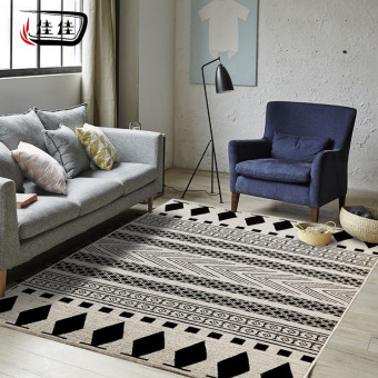 INS Jianyue black and white living room bedroom home rug