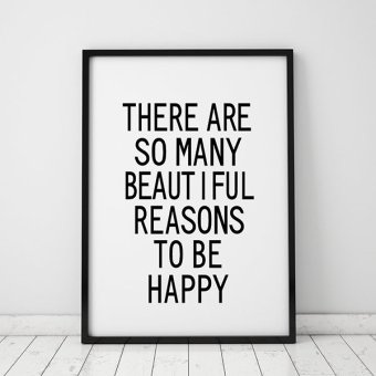 Inspiration Life Quote Wall Art Print Poster, Wall Pictures ForHome Decoration, Frame Not Include Canvas Art FA40 Price Philippines