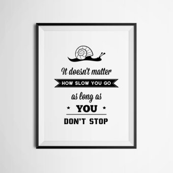 Inspiration Quote Wall Art Print Poster, Wall Pictures For Home Decoration, Frame Not Include Canvas Art FA359 Price Philippines