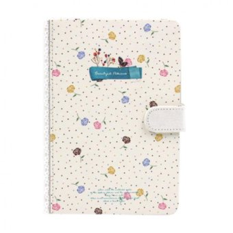 Inspire Beautiful Flower Notebook (Light Blue)
