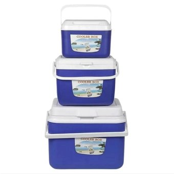 Insulated Cooler Box (blue) Set of 3