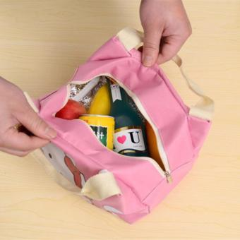 Insulated Lunch Bag Fashion Lunch Box Tote Waterproof Oxford ClothZipper Picnic Storage Bag - 4