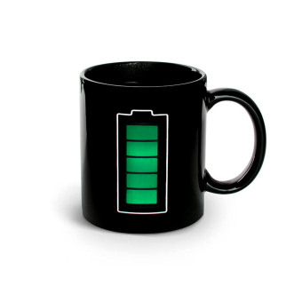 Iyach Heat Activated Design Battery Changing Mug (Black) Price Philippines
