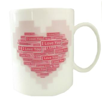Iyach Heat Activated Design Changing Mug - Love (White)