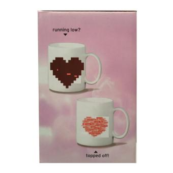 Iyach Heat Activated Design Changing Mug - Love (White) - 2