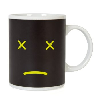 Iyach Heat Activated Design Smiley Face Changing Mug (Black)
