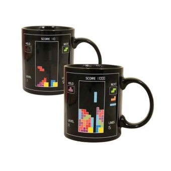 Iyach Heat Activated Tetris Design Changing Mug (Black)