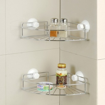 J&Cquality Creative Bathroom & Kitchen Sucker Corner ShelfSet Price Philippines