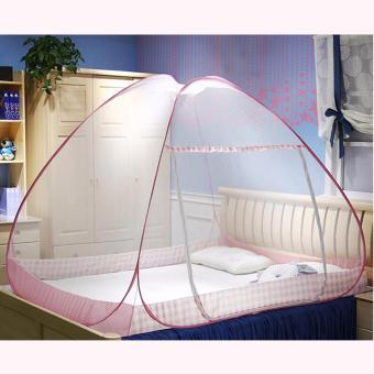 J&J Classic King Size Double Plain Mosquito Net (Pink) - 2