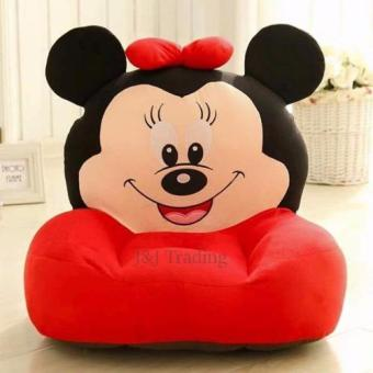 J&J Mickey Mouse Plush Toy Sofa Baby Love (Red)