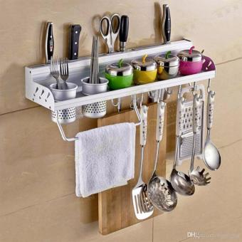 J&J Multifunctional Wall Hanging Aluminum Kitchen Storage RackTool Holder - 4