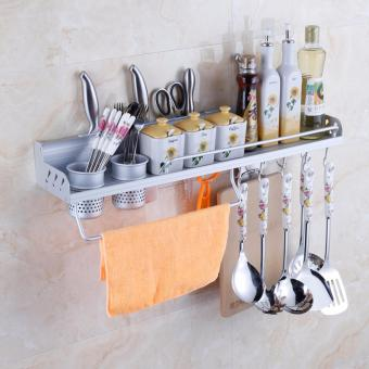 J&J Multifunctional Wall Hanging Aluminum Kitchen Storage RackTool Holder - 3